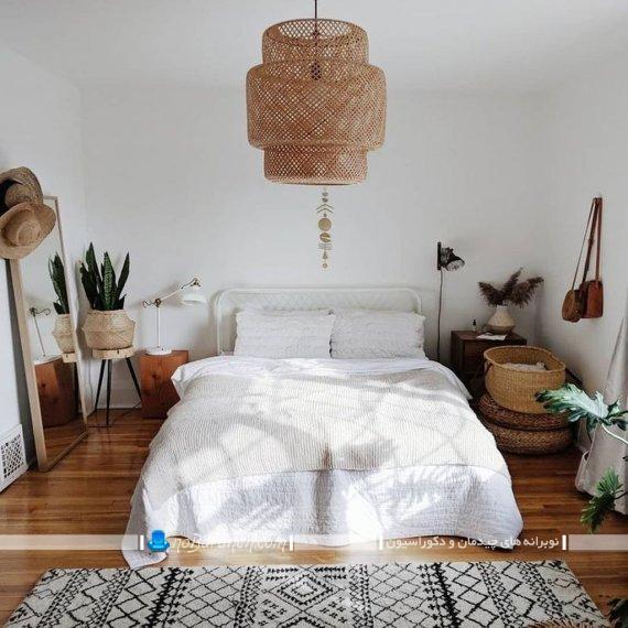 لوستر چوبی اتاق خواب عروس