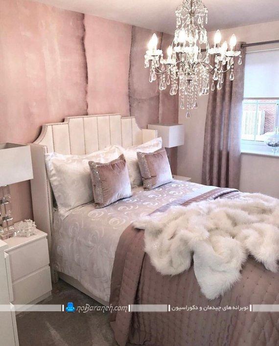 مدل لوستر اتاق خواب کریستالی مناسب اتاق های کلاسیک و سلطنتی