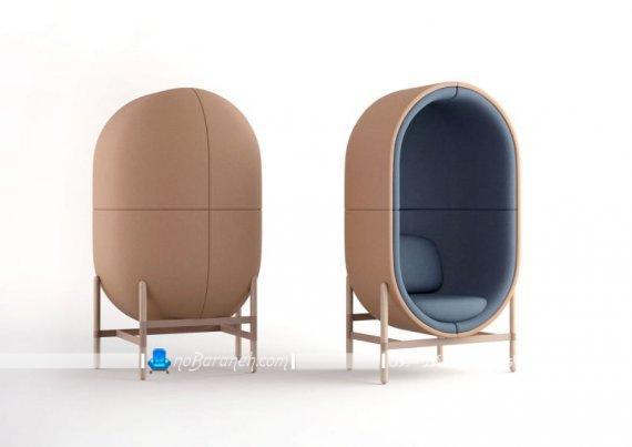 مبل راحتی شیک و اداری با طراحی جدید و مدرن به شکل تک نفره برای اتاق انتظار، صندلی تک نفره شیک به شکل کابین عایق صوتی دار