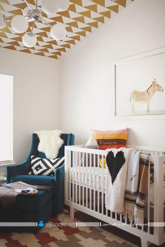 تزیینات سقفی برای دکوراسیون اتاق نوزاد در مدل های جدید فانتزی شیک مدرن