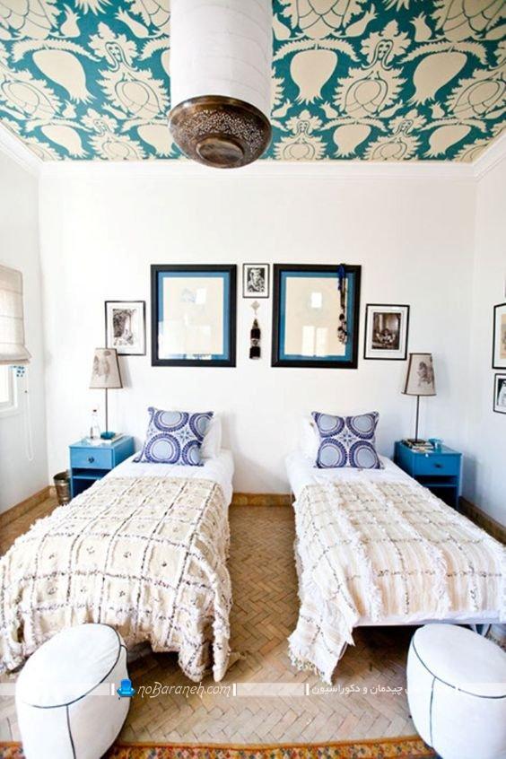 تزیینات سقفی شیک برای اتاق خواب در مدل های شیک مدرن فانتزی سلطنتی کلاسیک سنتی جدید