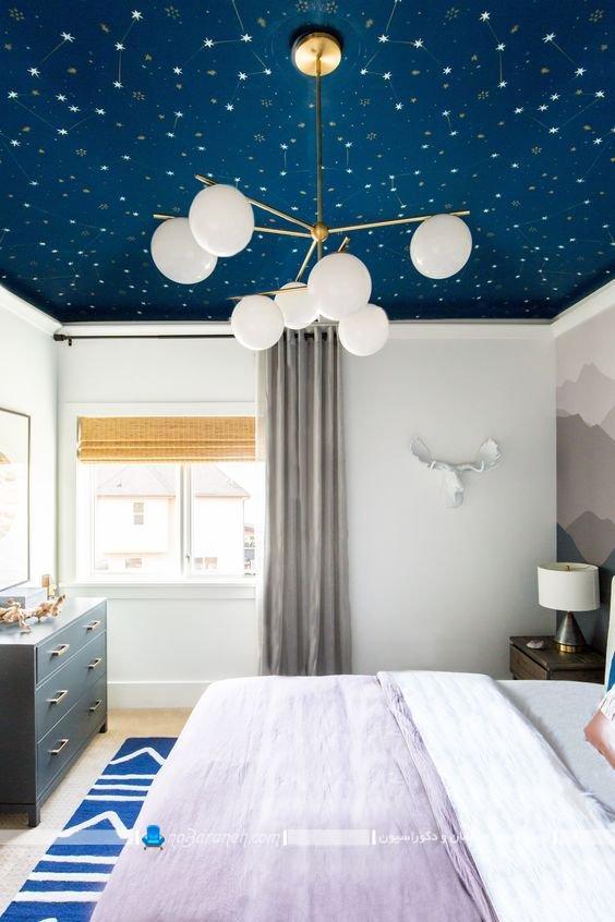 مدل های جدید تزیین سقف اتاق خواب با ایده های خلاقانه و ارزان قیمت جدید شیک زیبا