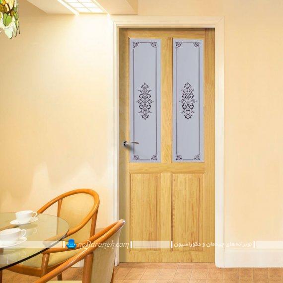 مدلهای جدید درب شیشه ای و چوبی دکوراتیو. دکوراسیون داخلی منزل با درهای شیشه ای دکوراتیو کلاسیک و مدرن.