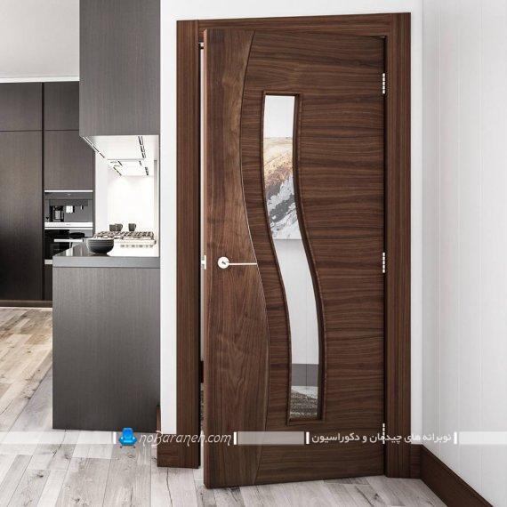 در داخلی با طرح های جدید چوبی و شیشه ای مدرن و مینیمال شیک و زیبا.