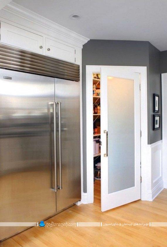 درب چوبی و شیشه ای آشپزخانه در مدل های جدید و مدرن شیک. عکس درهای داخلی منزل