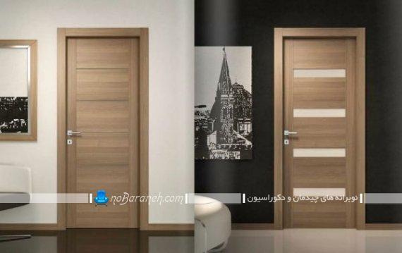 درب داخلی چوب و شیشه برای تزیین اتاق خواب و اتاق پذیرایی و آشپزخانه.