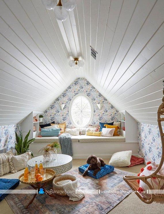 اتاق بازی کودک در خانه با دکوراسیون زیبا