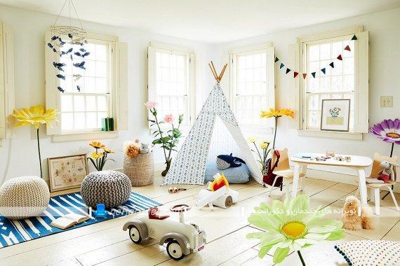 دکوراسیون اتاق بچه به شکل مهد کودک با طراحی زیبا و فانتزی و شیک