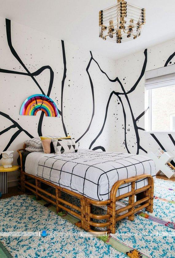 تریین دیوار اتاق خواب جوانان به سبک اسپرت و مدرن. مدل های ساده و شیک دیزاین و چیدمان جوان پسند.