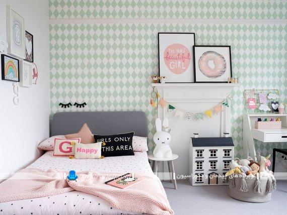 دیزاین فانتزی و شیک دخترانه اتاق خواب در مدل های متنوع و زیبا و خوشکل. مدل سرویس خواب دخترانه نوجوان پسند. مدل کاغذ دیواری دخترانه اتاق خواب.