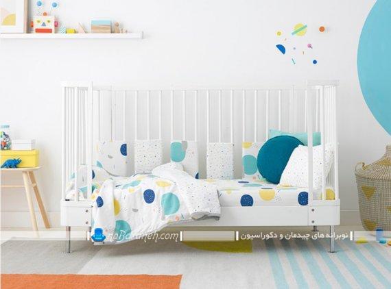 مدل ساده و شیک تخت خواب نوزاد. دکوراسیون شیک و مدرن اتاق نوزاد دختر و پسر.