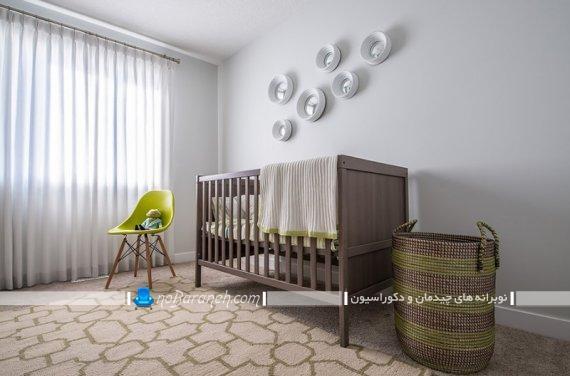 ساده ترین مدل تزیین اتاق نوزاد دختر و پسر. مدل ارزان قیمت دکوراسیون اتاق نوزاد. مدل ساده مبل و سرویس خواب نوزاد