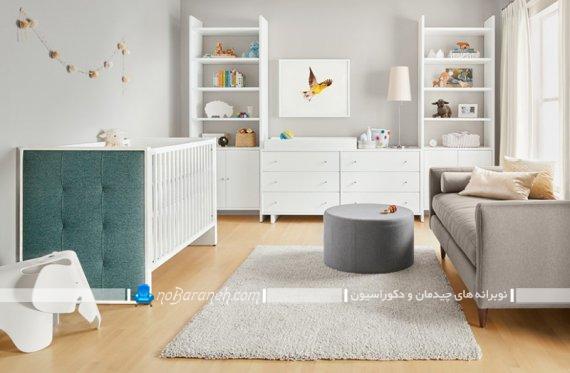 مبلمان و سیسمونی مدرن اتاق نوزاد. مدل های جدید و مدرن دکوراسیون اتاق نوزاد.
