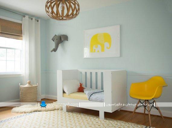 مدل ساده تخت خواب اتاق نوزاد. ارزان ترین دکوراسیون و تزیینات اتاق کودک نوزاد