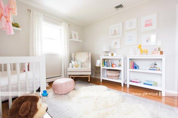 تزیین ارزان قیمت ساده و شیک اتاق نوزاد با هزینه کم. مدل تزیینات ساده اتاق بچه.