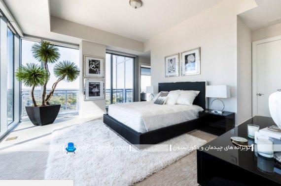 گلدان آپارتمانی بزرگ اتاق عروس با مدل های شیک مدرن فانتزی. تزیین اتاق خواب با گلدان