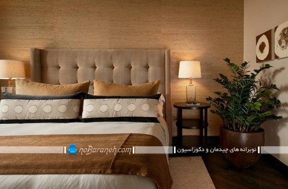 گیاهان آپارتمانی لوکس برای تزیین اتاق خواب. مدل های دیزاین اتاق عروس با گل و گیاه طبیعی.