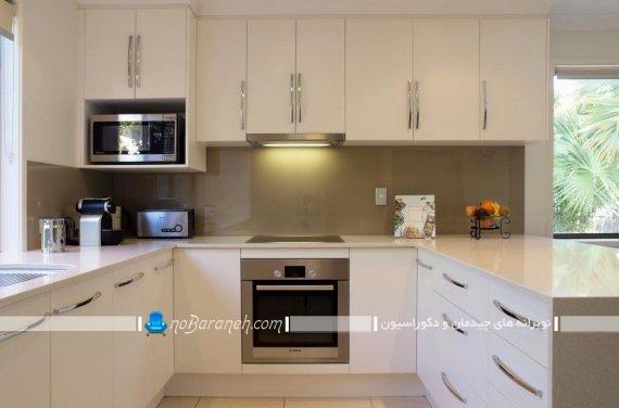 دکوراسیون آشپزخانه به شکل حرف U. طراحی داخلی آشپزخانه اپن به شکل یو انگلیسی
