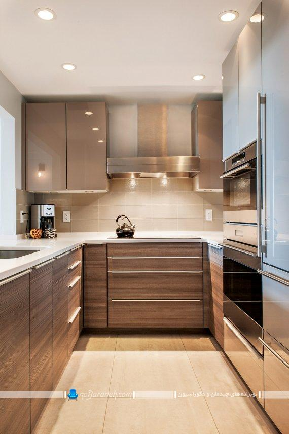کابینت یو شکل آشپزخانه. دکوراسیون و چیدمان آشپزخانه به شکل یو انگلیسی