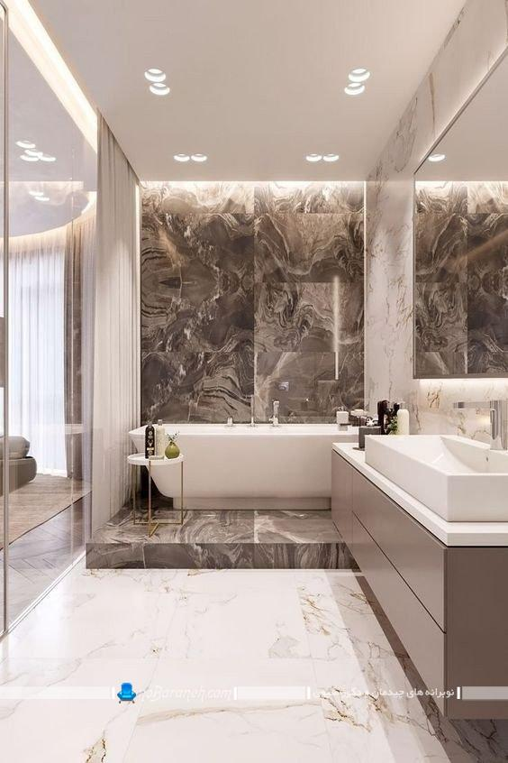 سنگ و سرامیک لاکچری آنتیک حمام و دستشویی. مدل های جدید کاشی سرامیک حمام