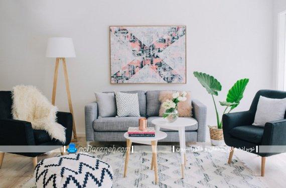 تزیین دیوار اتاق پذیرایی با تابلو دیواری. مدل های دیزاین شیک و مدرن اتاق پذیرایی.