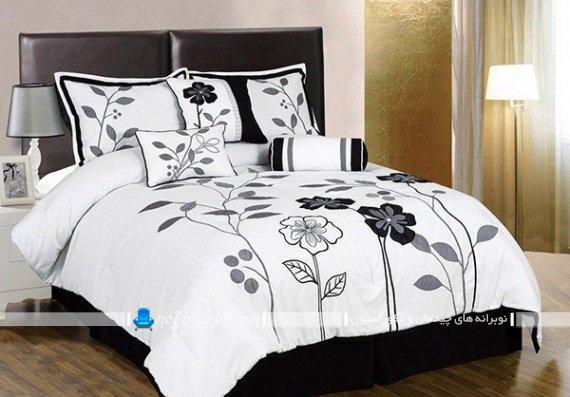 ست روتختی دو نفره گل دار و فانتزی شیک برای سرویس خواب و تخت عروس