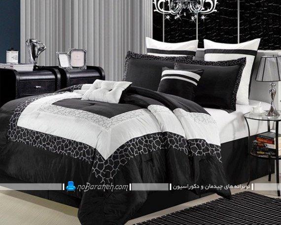 مدل های کلاسیک روتختی و ملحفه عروس. ست روبالشی و روتختی برای تخت خواب دو نفره.