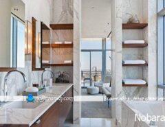 شلف قفسه تزیینی سرویس بهداشتی حمام توالت