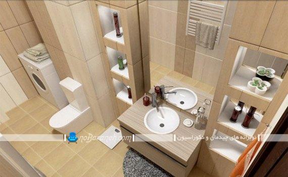 مدلهای جدید شلف تزیینی و مدرن برای اطراف روشویی توالت حمام