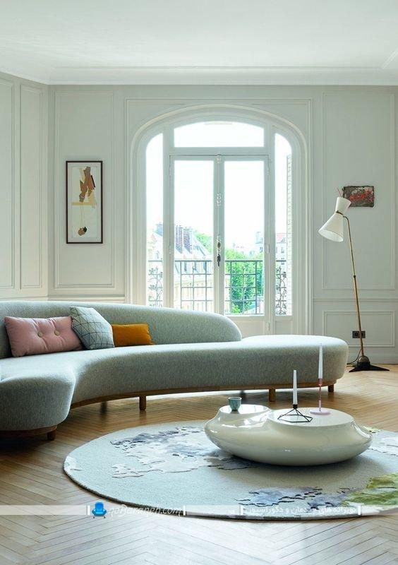 مبل کاناپه هلالی و گرد چهار تا شش نفره مدرن و فانتزی شیک و مدرن