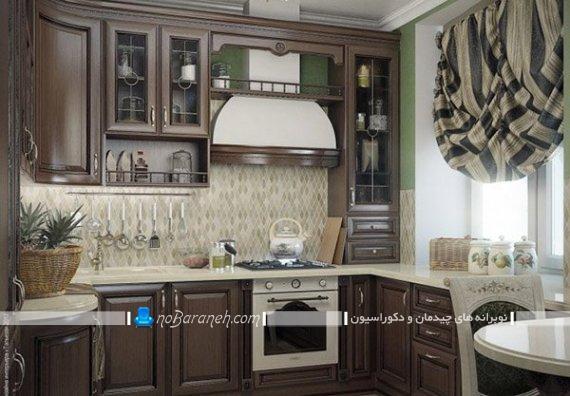 مدلهای جدید پرده آشپزخانه کلاسیک و سلطنتی برای ست کردن با کابینت ممبران. مدل های جدید پرده آشپزخانه