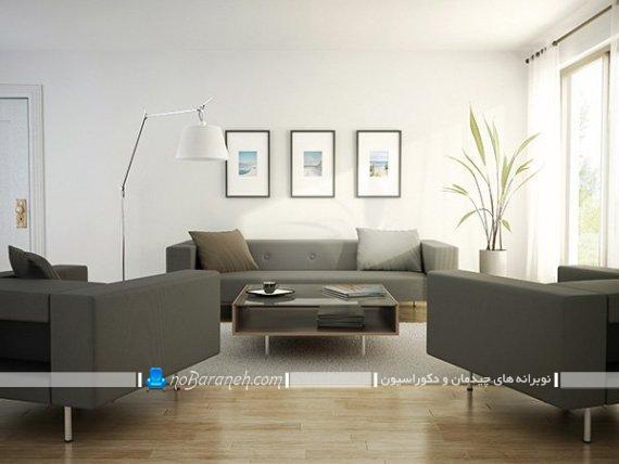 چیدمان و دکوراسیون ساده اتاق پذیرایی. تزیین دیوار اتاق پذیرایی با تابلو تزیینی و دیواری مدرن و شیک