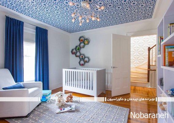 مدل های فانتزی تزیین و دیزاین سقف اتاق نوزاد و کودک. طرح های خلاقانه برای تزیین سقف اتاق بچه.