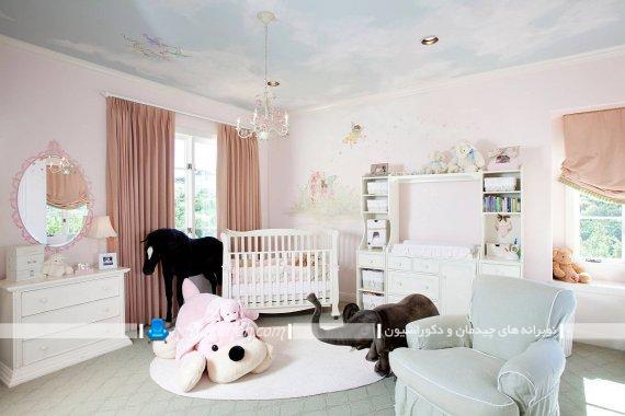 کاغذ دیواری سقفی. تزیین سقف اتاق کودک با کاغذ دیواری طرح دار. مدل های جدید کاغذ دیواری سقفی