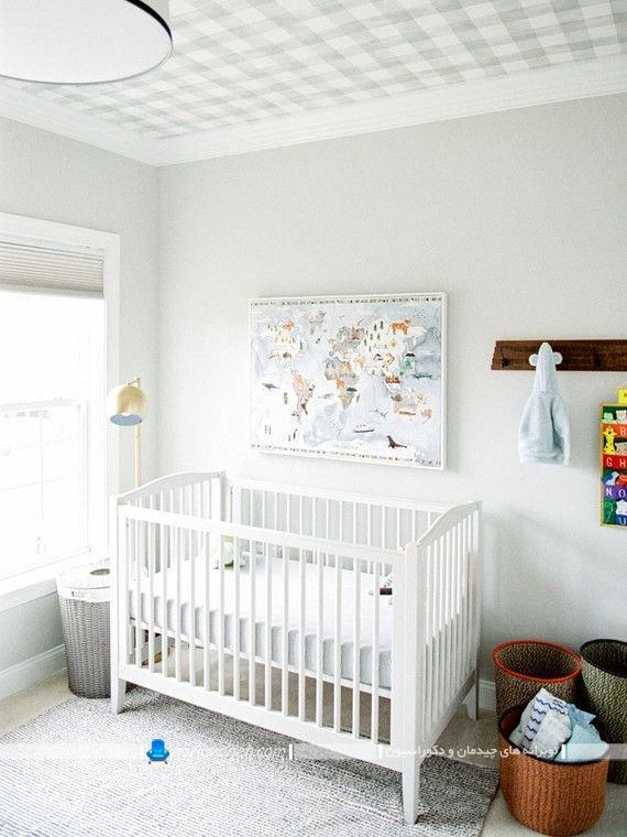 مدل های تزیین ارزان سقف اتاق نوزاد یا کاغذ دیواری طرح دار شیک فانتزی زیبا