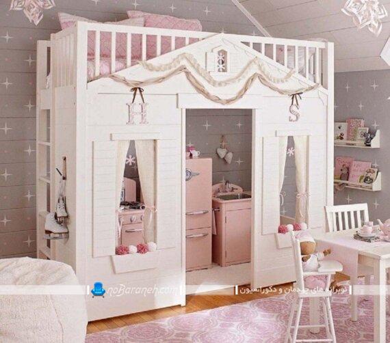 مدل تخت خواب دخترانه پرنسسی شیک مدل تخت خواب دخترانه جدید تخت خواب فانتزی دخترانه قیمت تخت خواب دخترانه