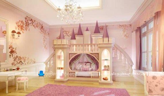 تخت خواب قصری دخترانه دو طبقه پرنسسی تخت خواب قصری دخترانه تخت خواب قصری قیمت تخت خواب قصری دخترانه مدل تخت خواب قصری