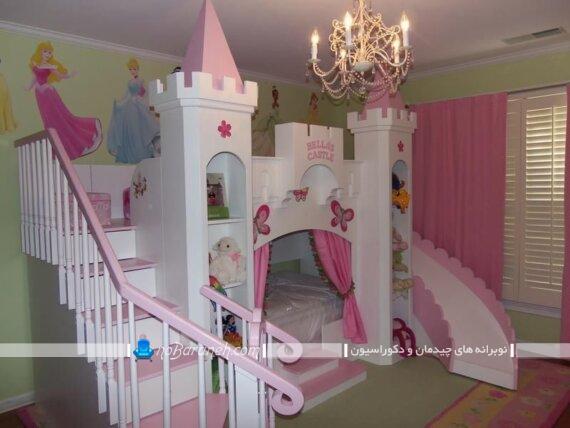 تخت خواب دخترانه شیک و فانتزی تخت خواب دخترانه شیک با قیمت