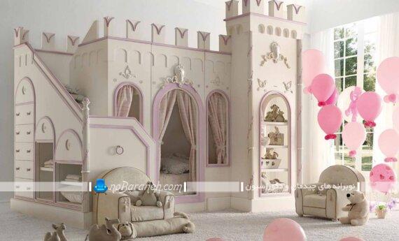 تخت خواب دو طبقه دخترانه تخت خواب فانتزی دخترانه عکس تخت خواب دو طبقه دخترانه جدید