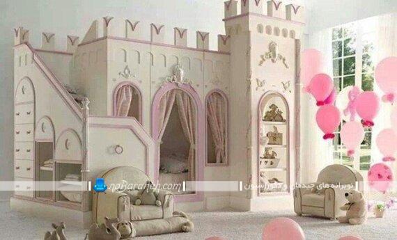 تخت خواب قصری دخترانه پرنسسی تخت خواب قصری دخترانه تخت خواب دخترانه تخت خواب دو طبقه دخترانه شیک
