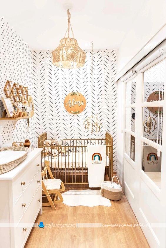 دکوراسیون اتاق کوچک نوزاد. دکوراسیون اتاق نوزاد پسر. دکوراسیون اتاق کودک 6متری