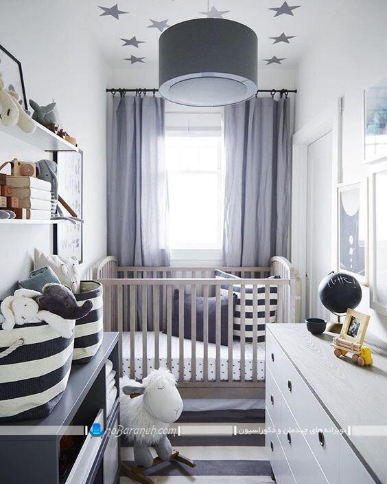 اتاق کوچک نوزاد دکوراسیون اتاق کوچک نوزاد. دکور اتاق کوچک نوزاد طراحی اتاق نوزاد کوچک