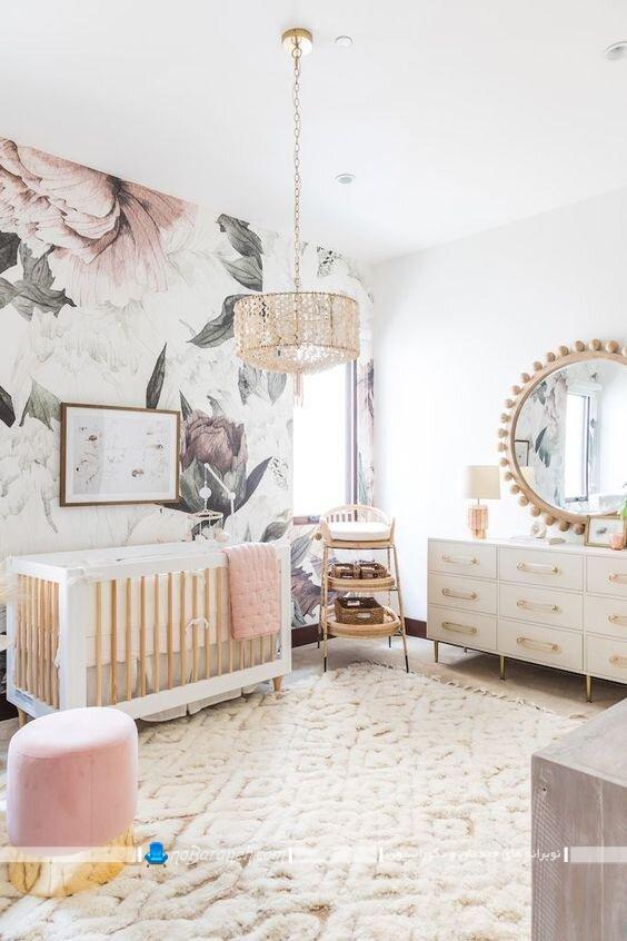 لوستر سقفی شیک اتاق کودک نوزاد. لوستر کریستالی اتاق نوزاد. مدل های شیک و مدرن چراغ روشنایی اتاق بچه گانه