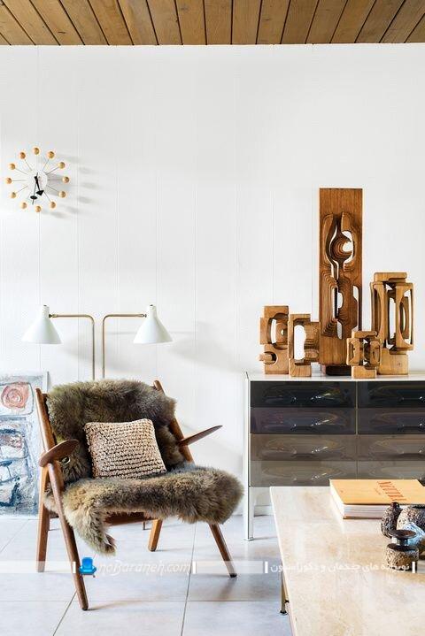 تزیین مبل خانگی با روکش پشمی