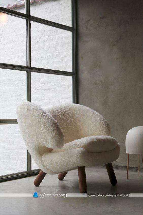 روکش پشمی برای تزیین مبل خانگی و مبل راحتی شیک مدرن فانتزی