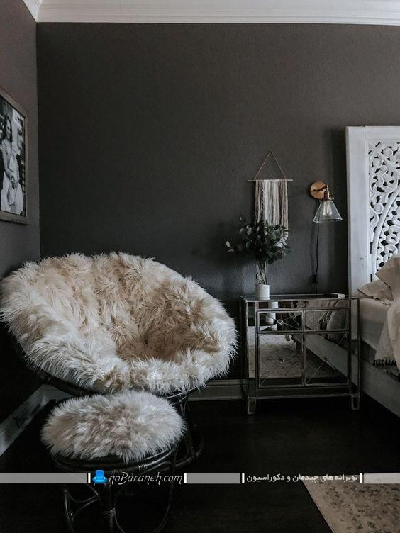 روکش پشمی و خزدار صندلی اتاق خواب