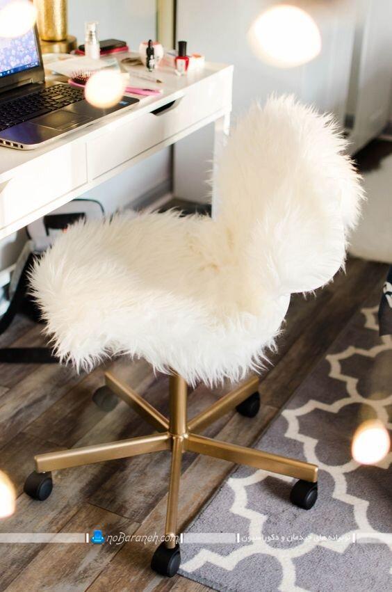 عکس مدل صندلی خزدار میز آرایش