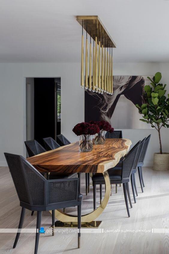مدل میز نهارخوری مدرن طرح چوبی شیک کلاسیک فانتزی