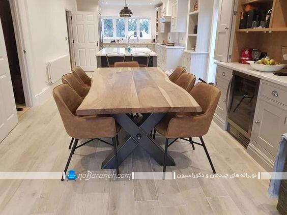 مدل های شیک و مدرن میز نهارخوری چوبی کلاسیک مدرن فانتزی