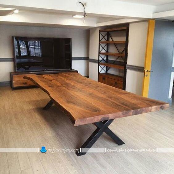 مدل جدید میز غذاخوری چوبی شیک مدرن کلاسیک
